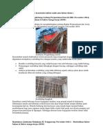 Contoh Kegagalan Proyek Konstruksi Akibat Salah Satu Faktor