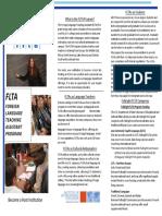 Fulbright FLTA Brochure