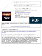 The Signature of Power Journal