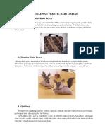15 Kerajinan Tekstil Dari Limbah