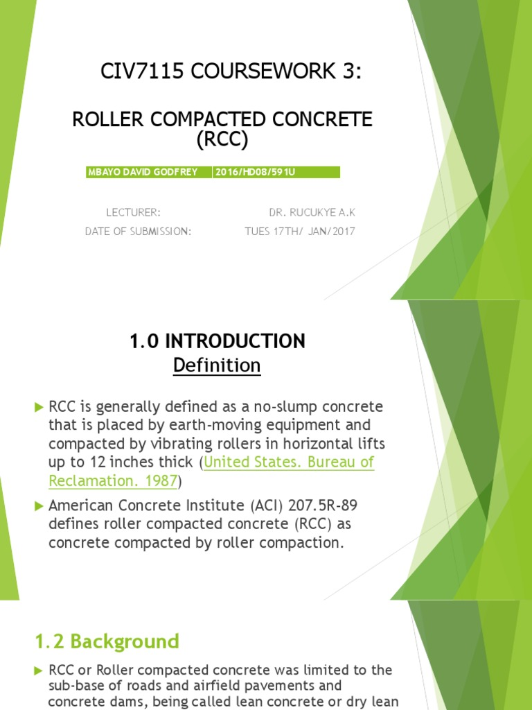 Assigment 3 Concrete Road Surface