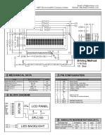 Hoja Tecnica de LCD