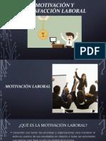 Motivación y Satisfacción Laboral 2