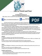 Central Visayas - Itinerary