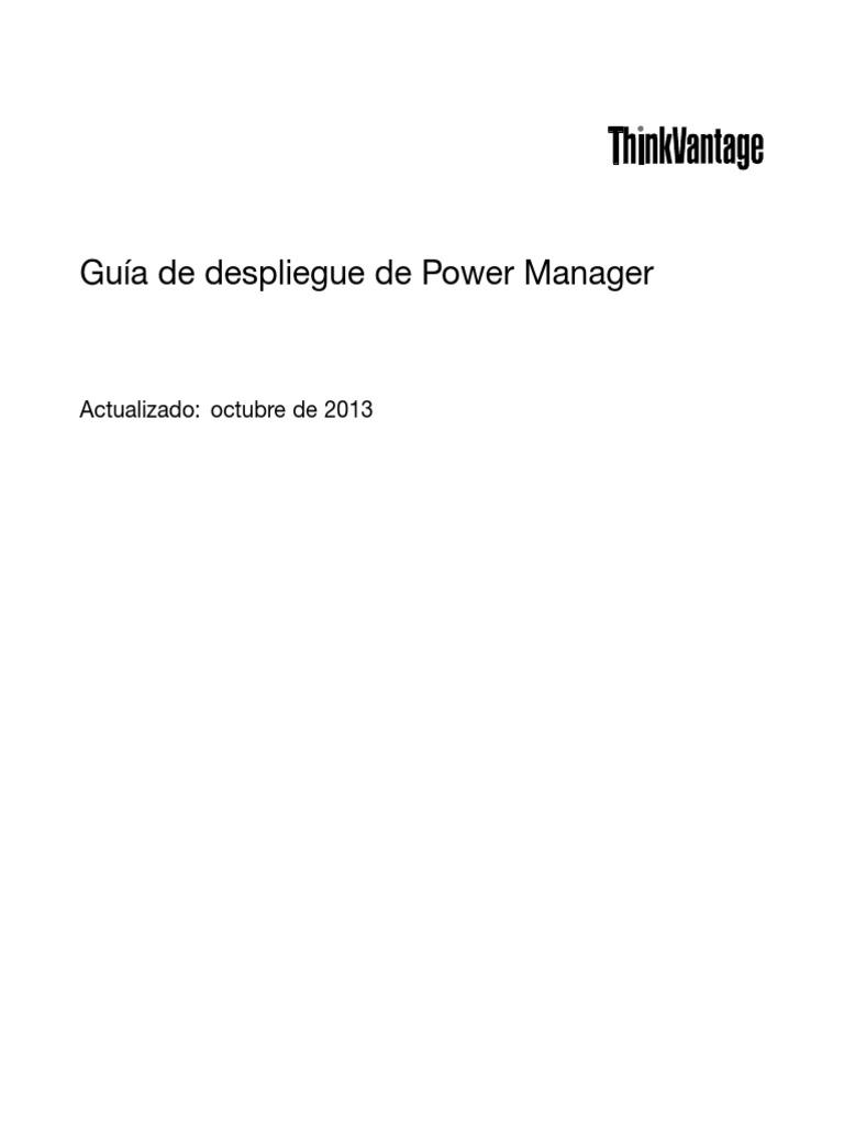 Manual TP2 [(Spanish) Power Manager | Windows Vista