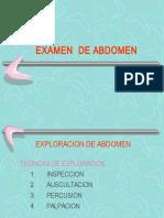 Semiologia Abdomen Percusion-palpacion