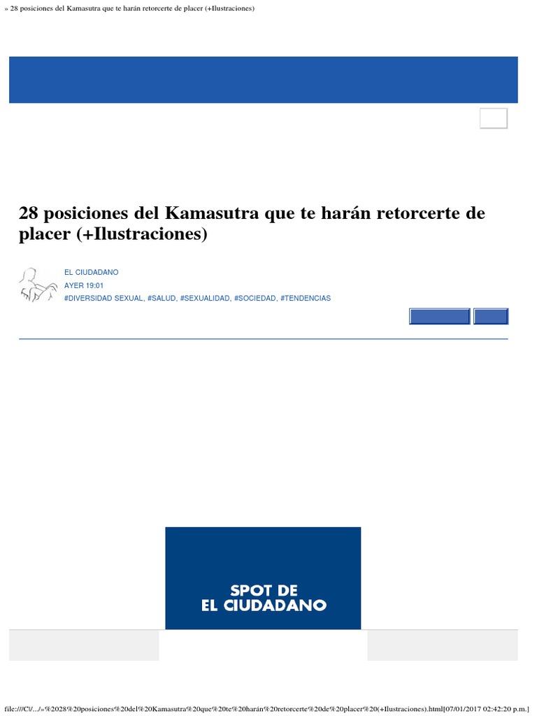 » 28 posiciones del Kamasutra que te harán retorcerte de placer  (+Ilustraciones)