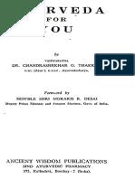 Ayurveda For You by Chandrashekhar Thakkur.pdf