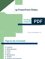 Tips on Making Good Slides
