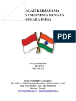 Makalah Kerjasama Negara Indonesia Dengan Negara India
