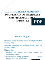 294047102 Historical Development Profession of Pharmacy and Pharmacutical Industry