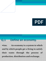Unit-i - Economy & Central Problem Powerpoint Presentation for class 12