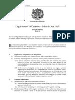 Legalisation of Grammar Schools Act 2015