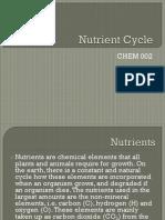 Nutrient Cycle LPCP