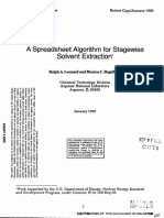 A Spreadsheet Algorithm for Stagewise Solvent Extraction