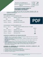 Program September 2017 LET Board Exam