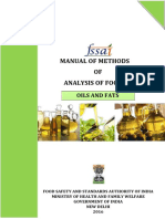 Manual of Methods of analysis of  foods
