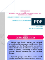Rights of Special Groups