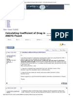 Calculating Coefficient of Drag in ANSYS Fluent