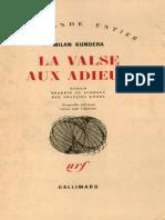 La Valse Aux Adieux Milan Kundera