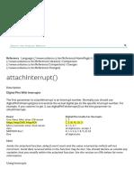 Arduino - AttachInterrupt
