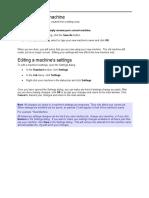 Creating a New Machine Manual 104