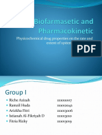 Biofarmasetic and Pharmacokinetic