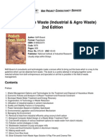 Niir Products From Waste Industrial Agro Waste 2nd Edition