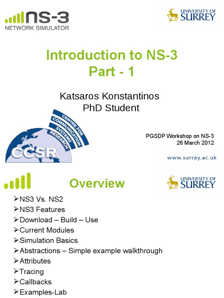 Ns 3 Workshop Part1 | Transmission Control Protocol