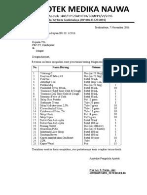 Surat Pesanan Apotekdocx