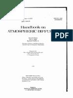 Handbook on Atmospheric Diffusion