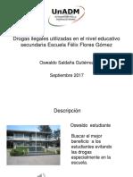 Drogas Ilegales Utilizadas en El Nivel Educativo Secundaria PDF