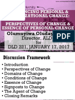 Dld221 Module 1- Influencing Personal and Organizational Change