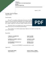 Letter for Design 3 Taguig