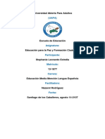 Tarea 3, Educacion Para La Paz