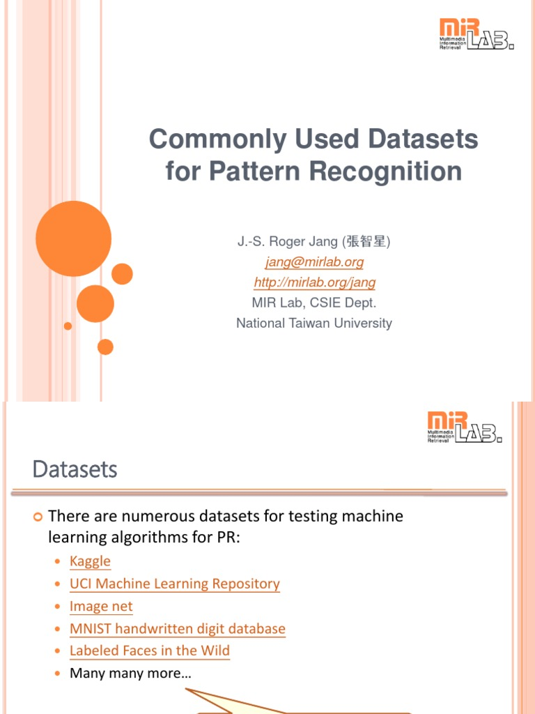 Data Set | Pattern Recognition | Machine Learning