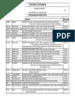 Price Sheet- Wellness 2014