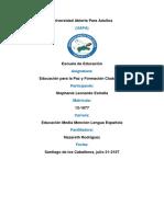 Tarea 2, Educacion Para La Paz