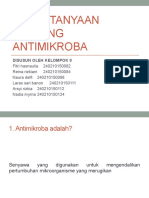 25 Pertanyaan Tentang Antimikroba