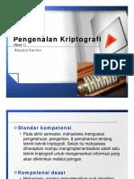 Kriptografi - Week1 - Pengenalan Kriptografi File 2013-04!08!085919 Aisyatul Karima s.kom m.cs