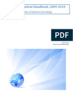 Geology Graduate Student Handbook-MASTERS