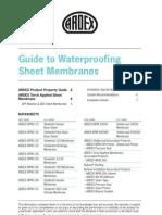 Ardex Waterproofing Sheet Membrane