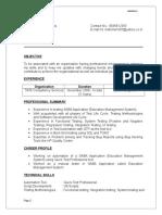 Mahima Arampady - Resume
