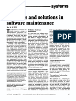 Problems and Solutions in Software Maintenance