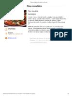 Pizza Sem Glúten _ Daniela de Almeida