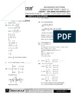 Advanced Pattern Cumulative Test-1 Solutions
