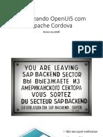 Mobilizando OpenUi5 Com Apache Cordova