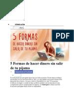 5 Formas de Hacer Dinero Sin Salir de Tu Pijama