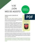 Boletín Agosto, Inmaculado Corazon, Vocaciones.pdf