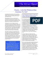 Resolving the Paradox – Is the Safe Withdrawal Rate Sometimes Too Safe?  - Thierry Polla